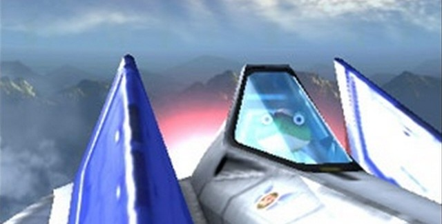 Slippy, the doe-eyed, moronic, lovable member of the Star Fox 64 3D team (screenshot)
