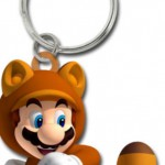 Super Mario 3D Land Tanooki Mario Keychain Pre-Order Goodie From GameStop
