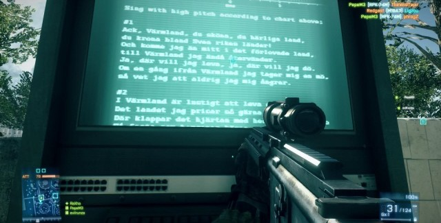 Battlefield 3 Easter Egg - Swedish Folk Song Lyrics