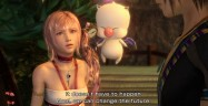 Final Fantasy XIII-2 Serah screenshot. Also showing Moggle and Noel