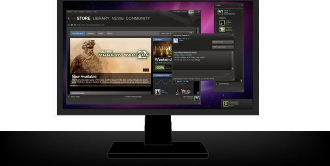 Steam PC monitor