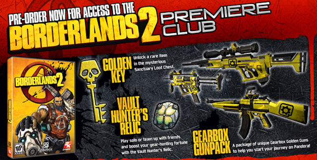 Borderlands 2 Pre-Order Bonus Overview