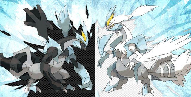 Pokemon Black and White 2 Black Kyurem and White Kyurem Artwork