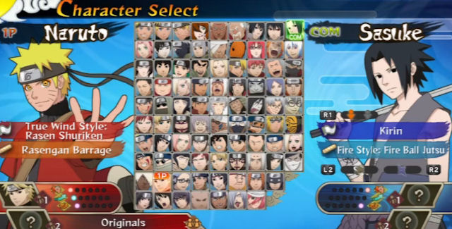 Naruto Shippuden Ultimate Ninja Storm Generations Characters Select Screen
