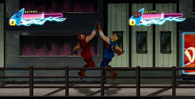 Double Dragon: Neon high five screenshot