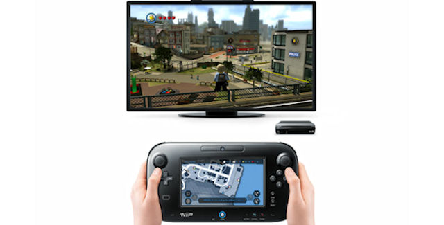 Lego City: Undercover screenshot with Wii U GamePad map
