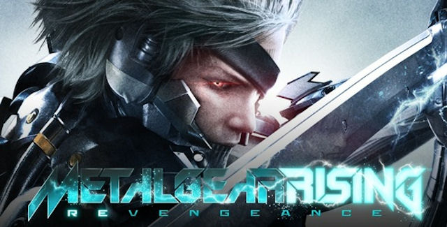 Metal Gear Rising: Revengeance Raiden with sword logo