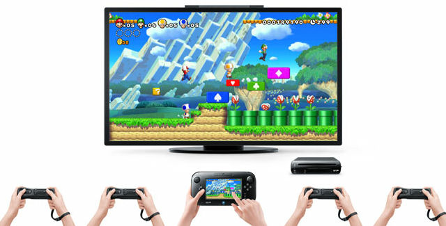 New Super Mario Bros. U controls screenshot