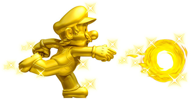 New Super Mario Bros 2 Gold Mario