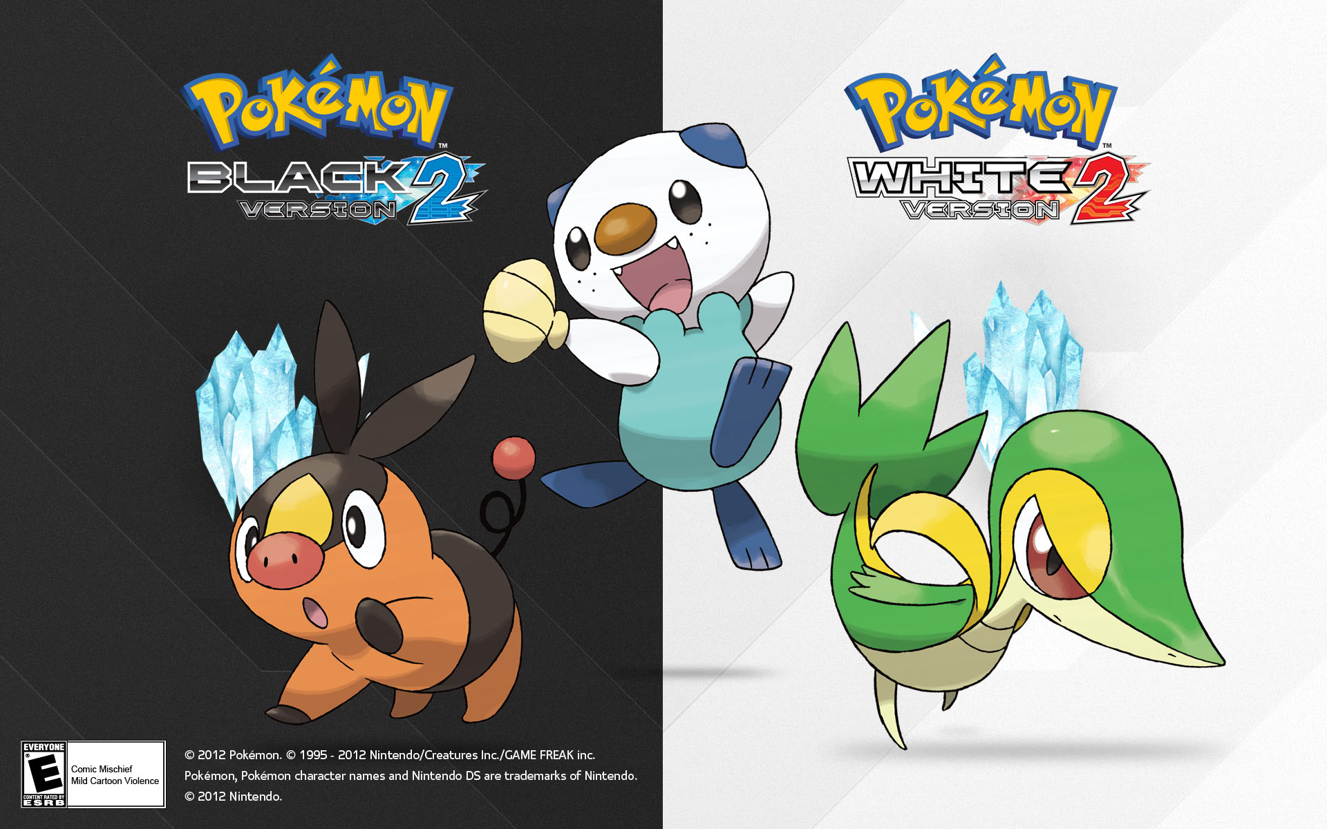 Pokemon Black And White 2 Starters Wallpaper