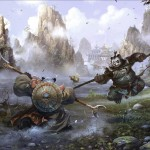 World of Warcraft: Mists of Pandaria Battle Wallpaper