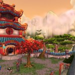 World of Warcraft: Mists of Pandaria Temple Wallpaper