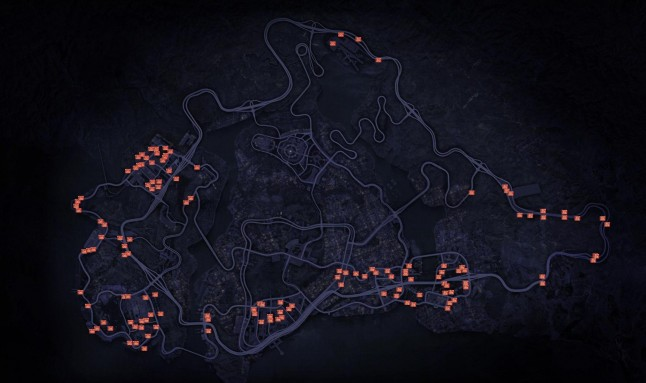 Need for Speed: Most Wanted 2012 Security Gates Map
