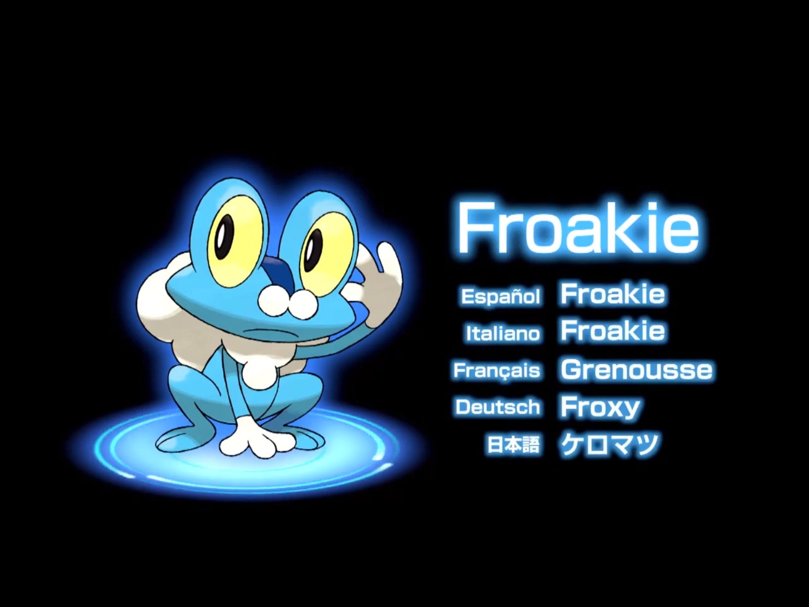 Pokemon X and Y Froakie
