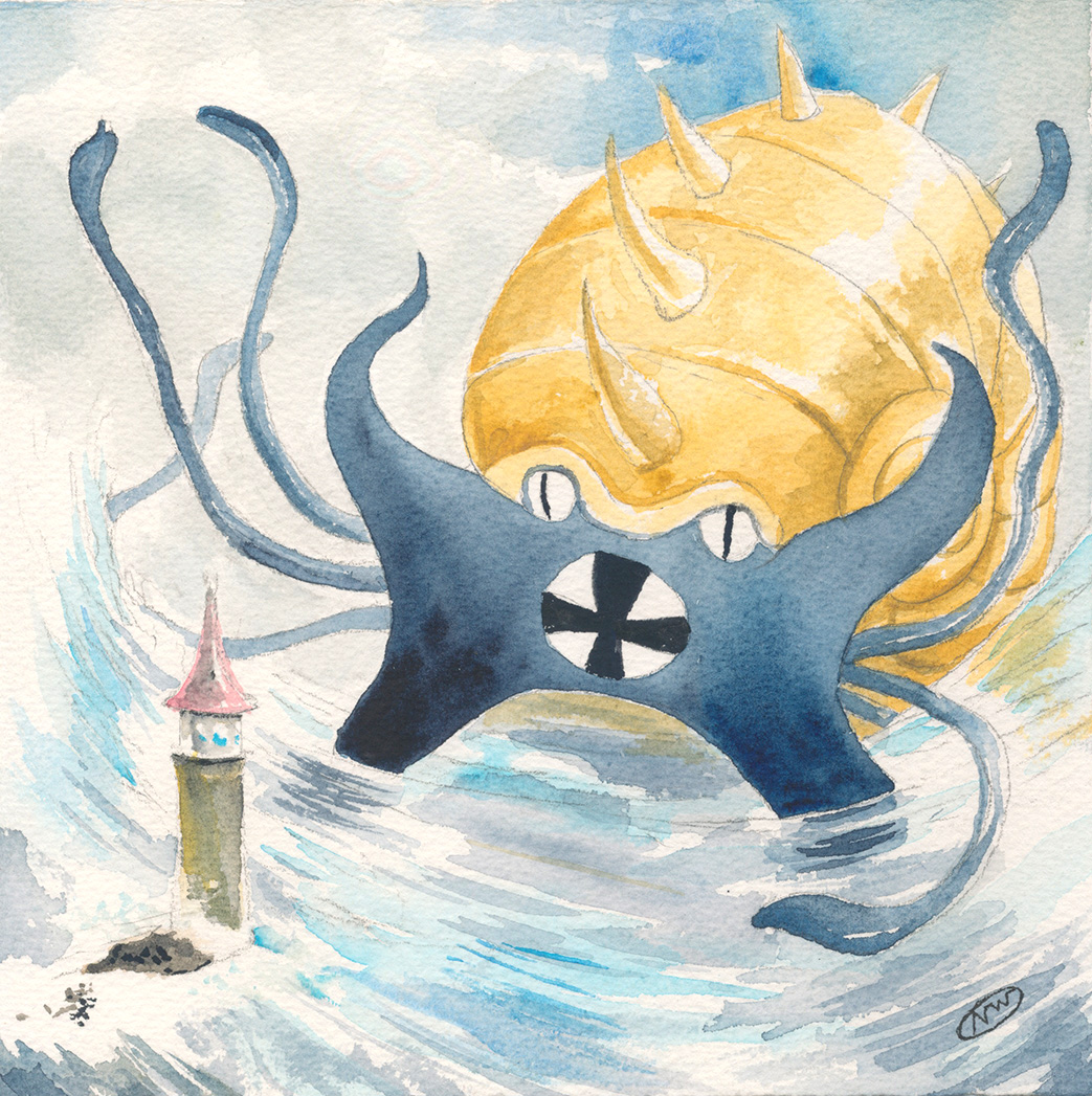 Pokemon 139 Omastar Artwork