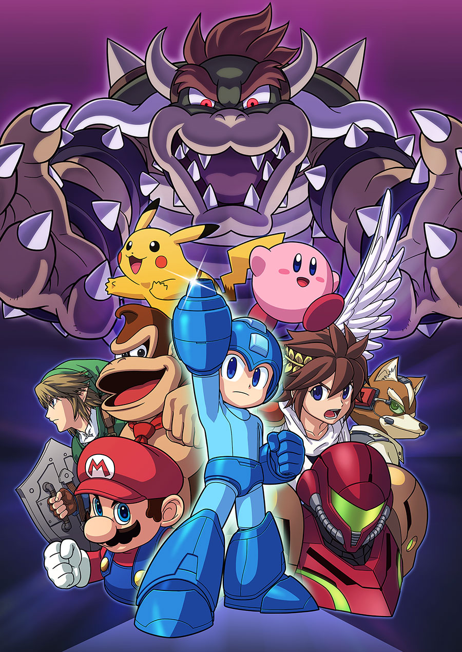 Super Smash Bros Wii U and 3DS Mega Man Artwork