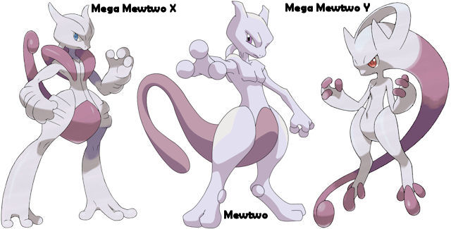 Mega Mewtwo Pokemon X and Y artwork