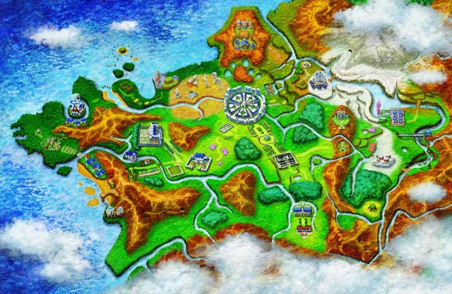 Pokemon X and Y Kalos Region Map