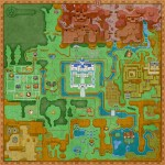 Zelda: A Link Between Worlds Hyrule Map