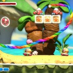 Kirby And the Rainbow Curse Clay Trees Gameplay Screenshot Wii U