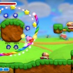 Kirby And the Rainbow Curse Stars & Flowers Gameplay Screenshot Wii U