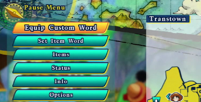 One Piece: Unlimited World Red Strong Words List