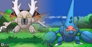 Mega Pinsir & Mega Heracross Pokemon X Pokemon Y Gameplay Battle Screenshot