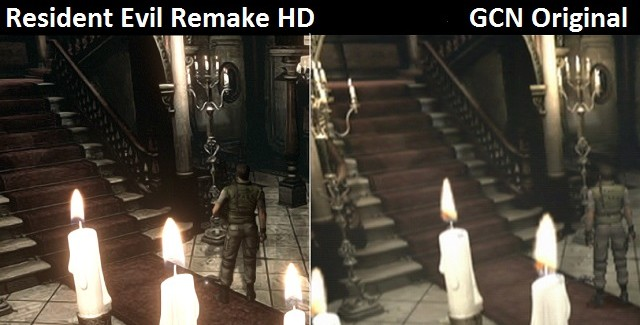 Resident Evil Remake HD Remaster Banner Artwork Graphics Comparison