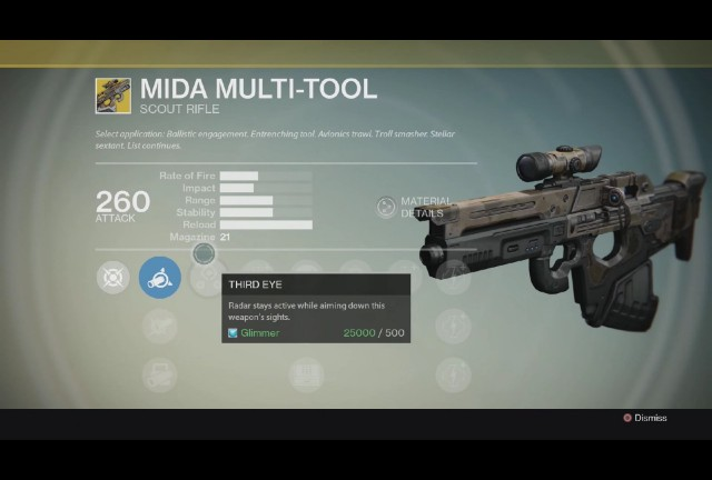 Destiny MIDA Multi-Tool Exotic scout rifle