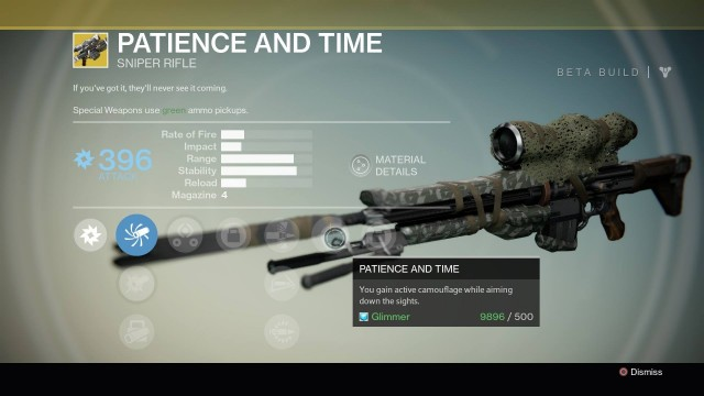 Destiny Patience and Time Exotic sniper rifle