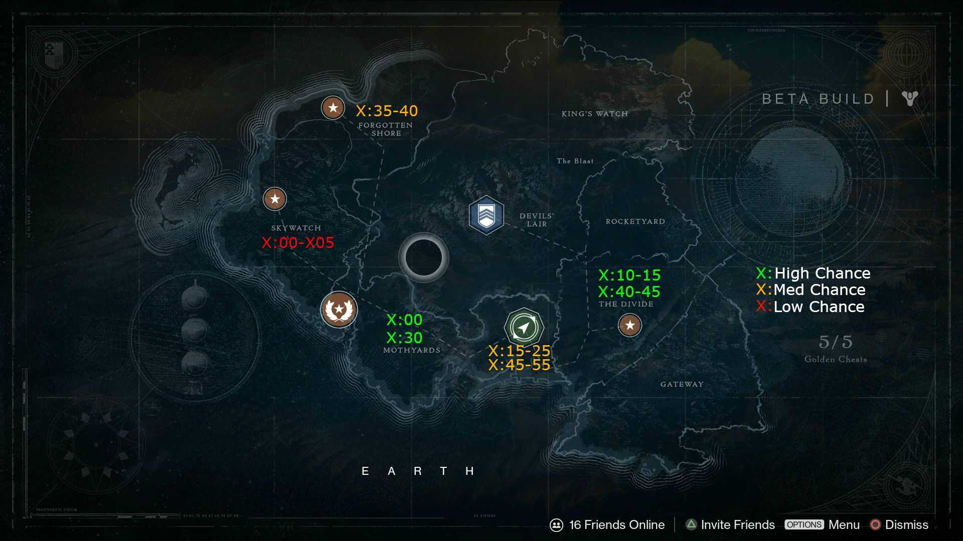 Destiny Public Events Map