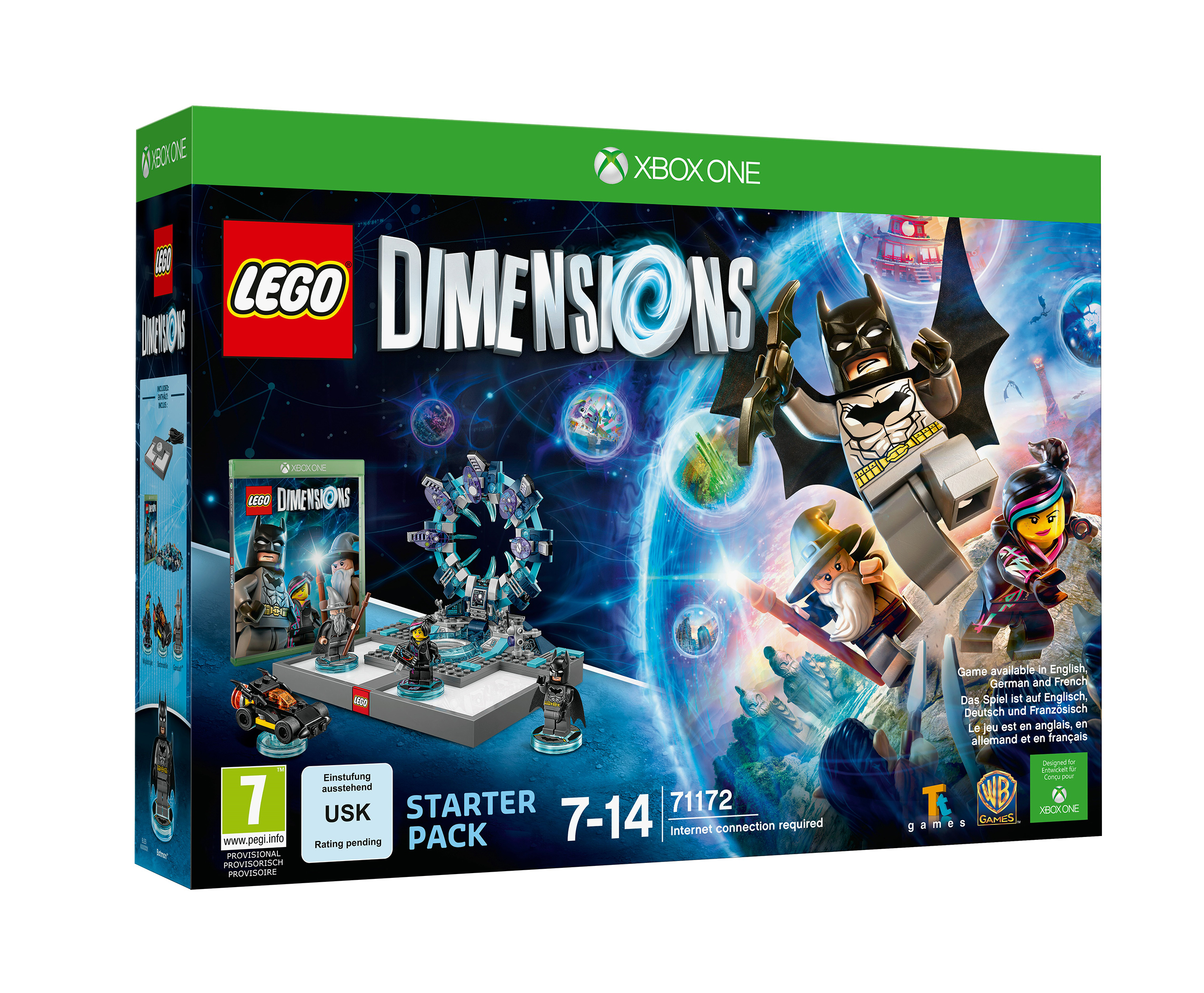 lego dimensions xbox one boxart. Black Bedroom Furniture Sets. Home Design Ideas