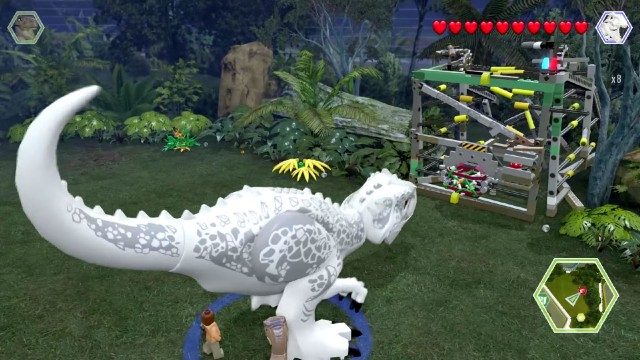 Lego Jurassic World Red Brick 8: Red Brick Detector Location