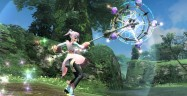 Phantasy Star Online 2 Girl In Skirt Gameplay Screenshot
