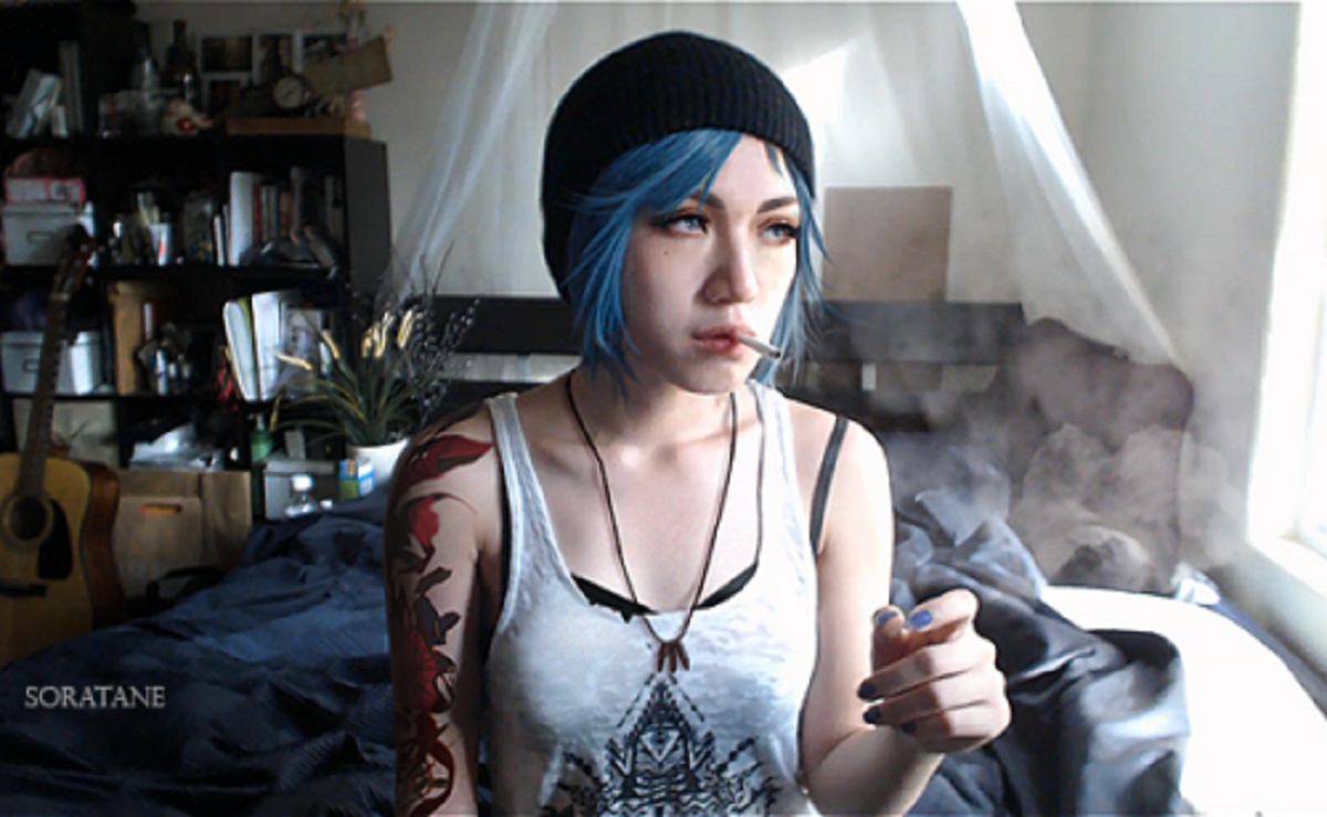 Life Is Strange Chloe Smoking Cosplay By Soratane
