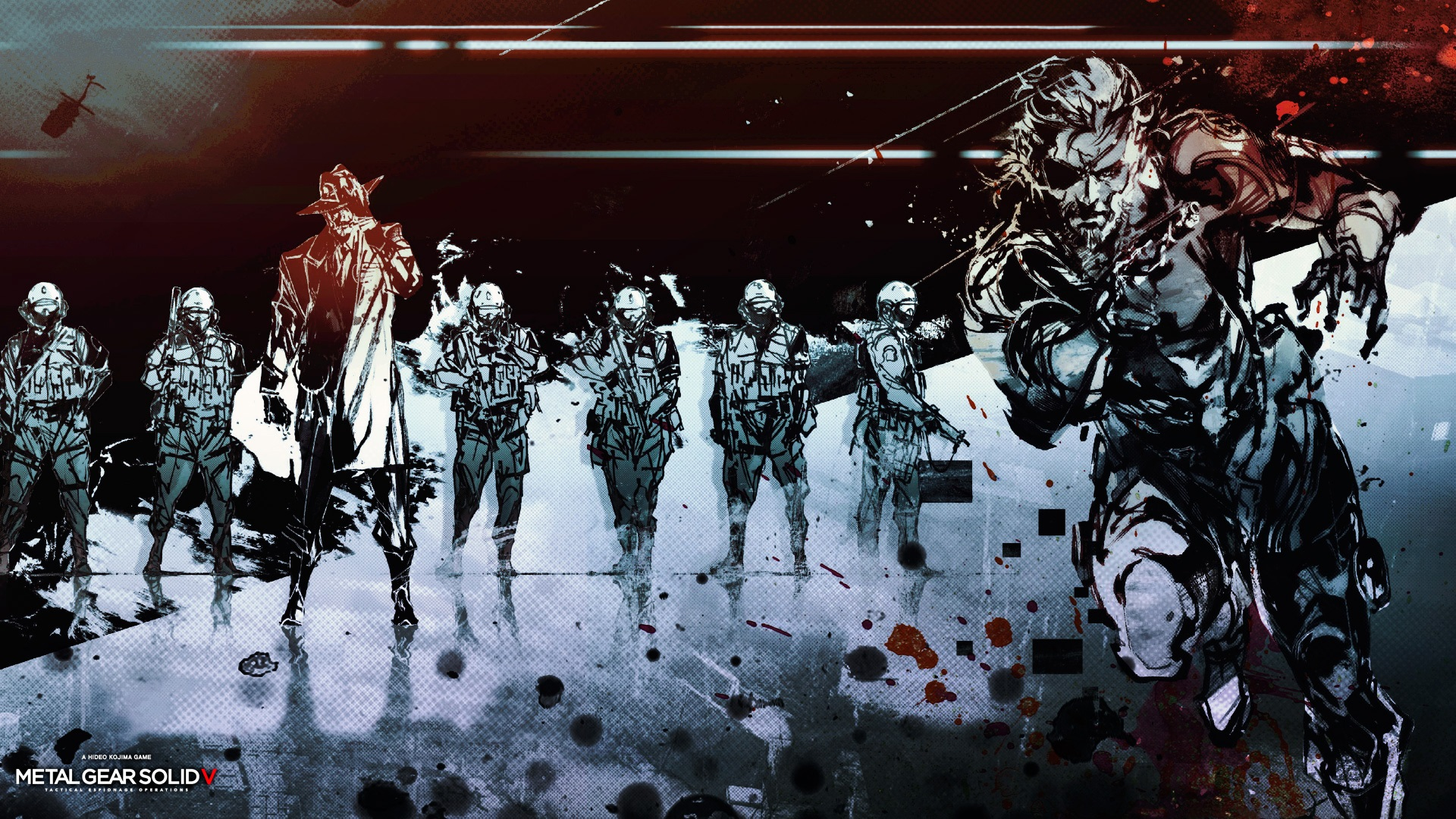 metal gear solid v wallpaper sketch characters