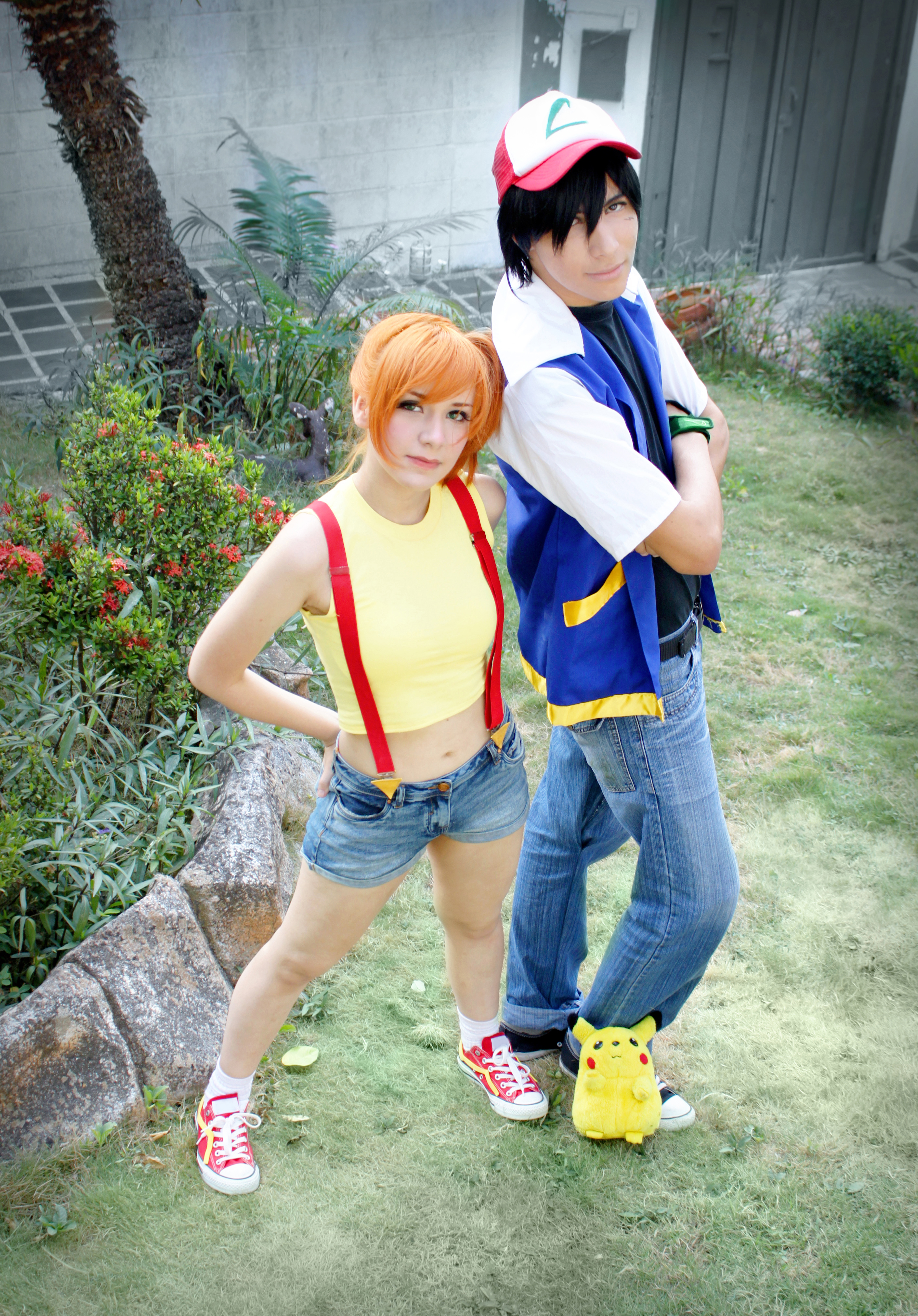 misty costume and Ash