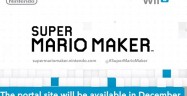 Super Mario Maker Portal Site Release Date December 2015