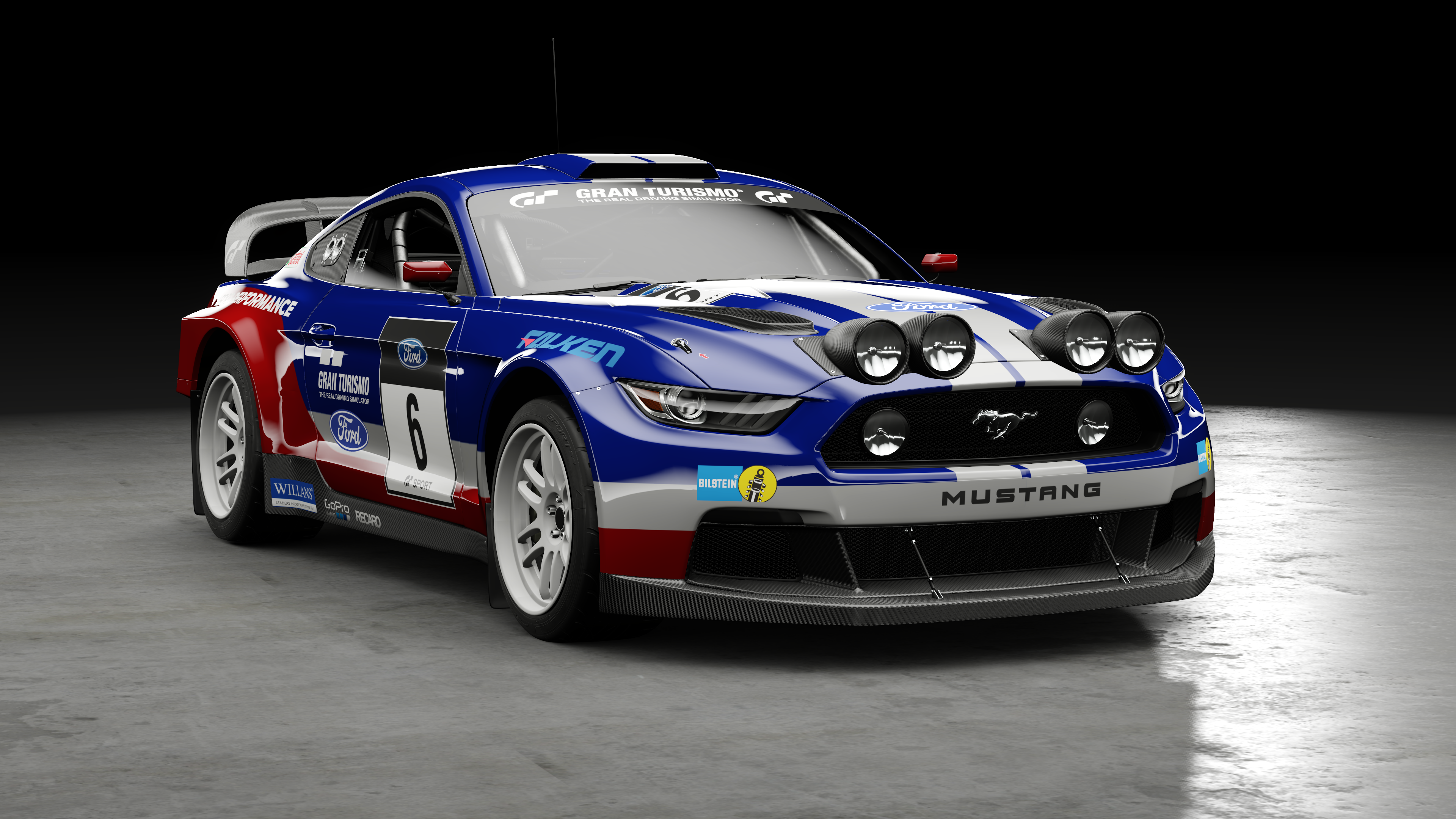 gt sport ford mustang group b rally car. Black Bedroom Furniture Sets. Home Design Ideas